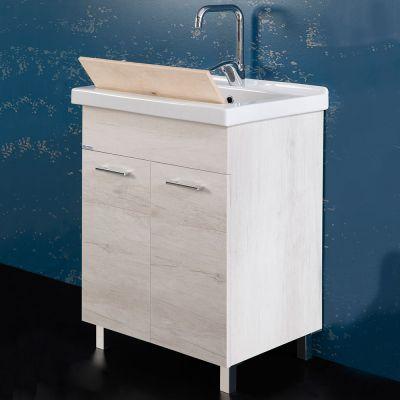 UNIKA - Mobile con lavatoio 60X50 con vasca in ceramica - Mobili con ...