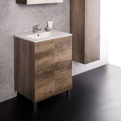 Unika mobile a terra con ante con lavabo in ceramica cm 60 70 80x46 - Mobili da bagno a terra ...