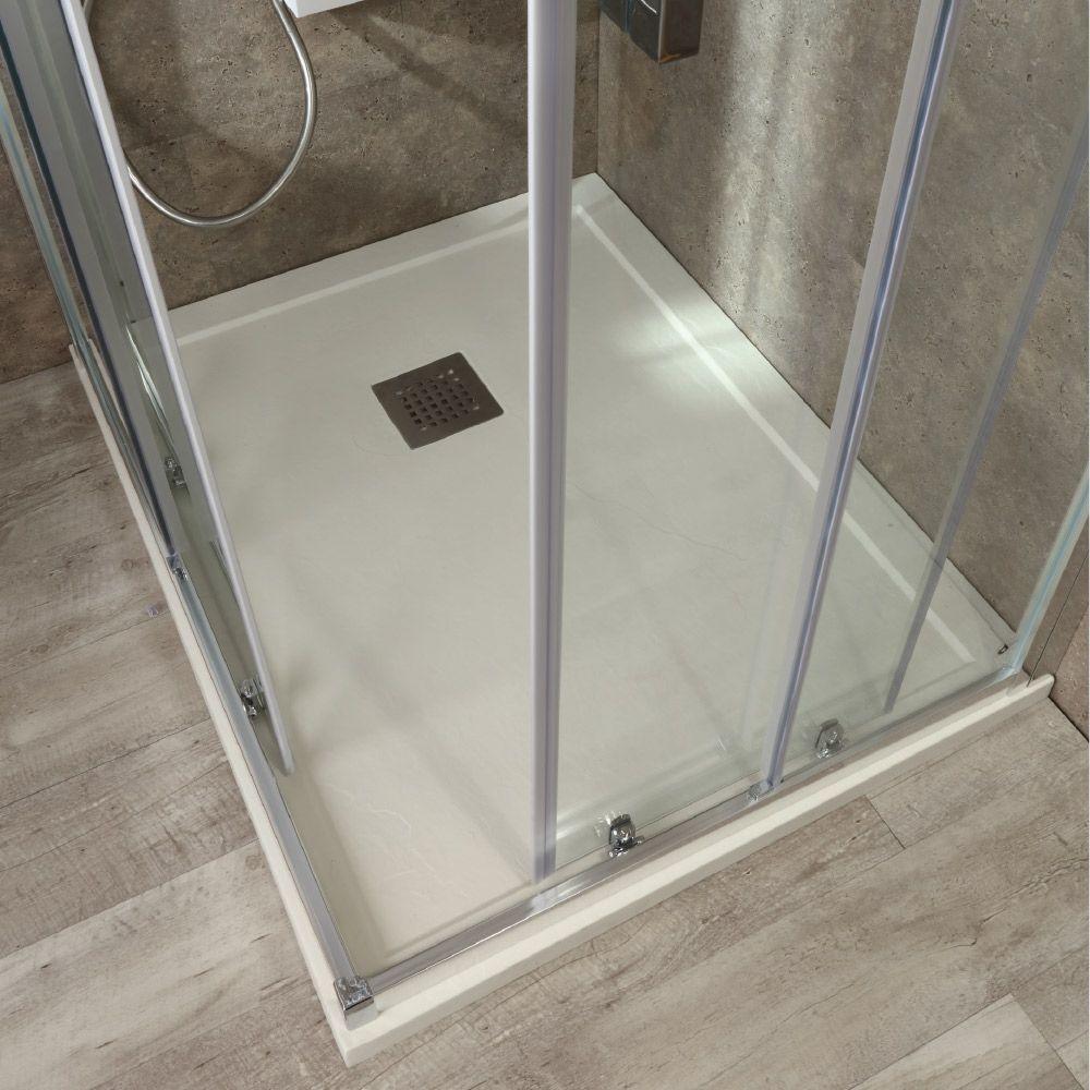 SLIDE - Box doccia a due lati con doppia porta scorrevole