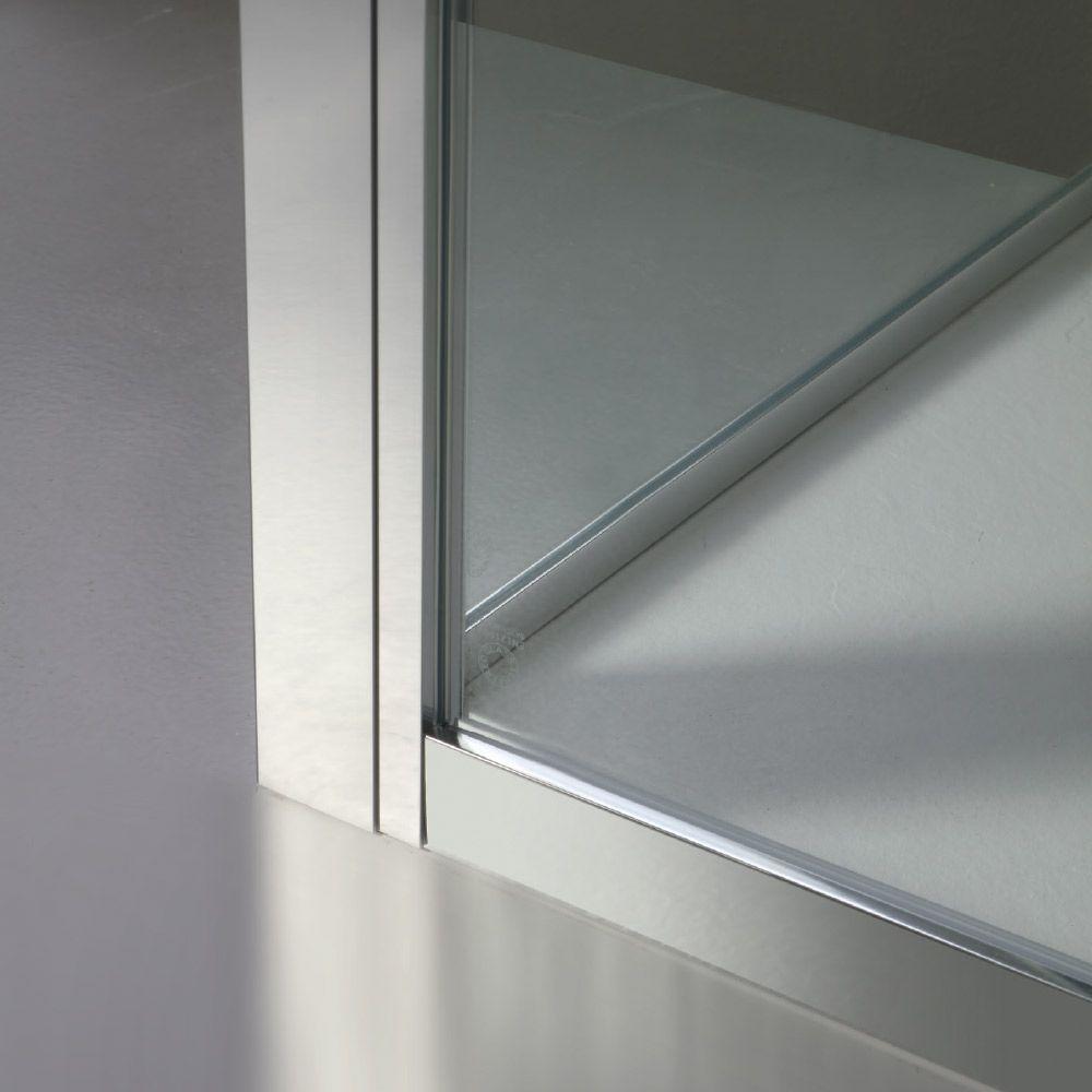 FREE - Box doccia a nicchia con doppia porta scorrevole centrale