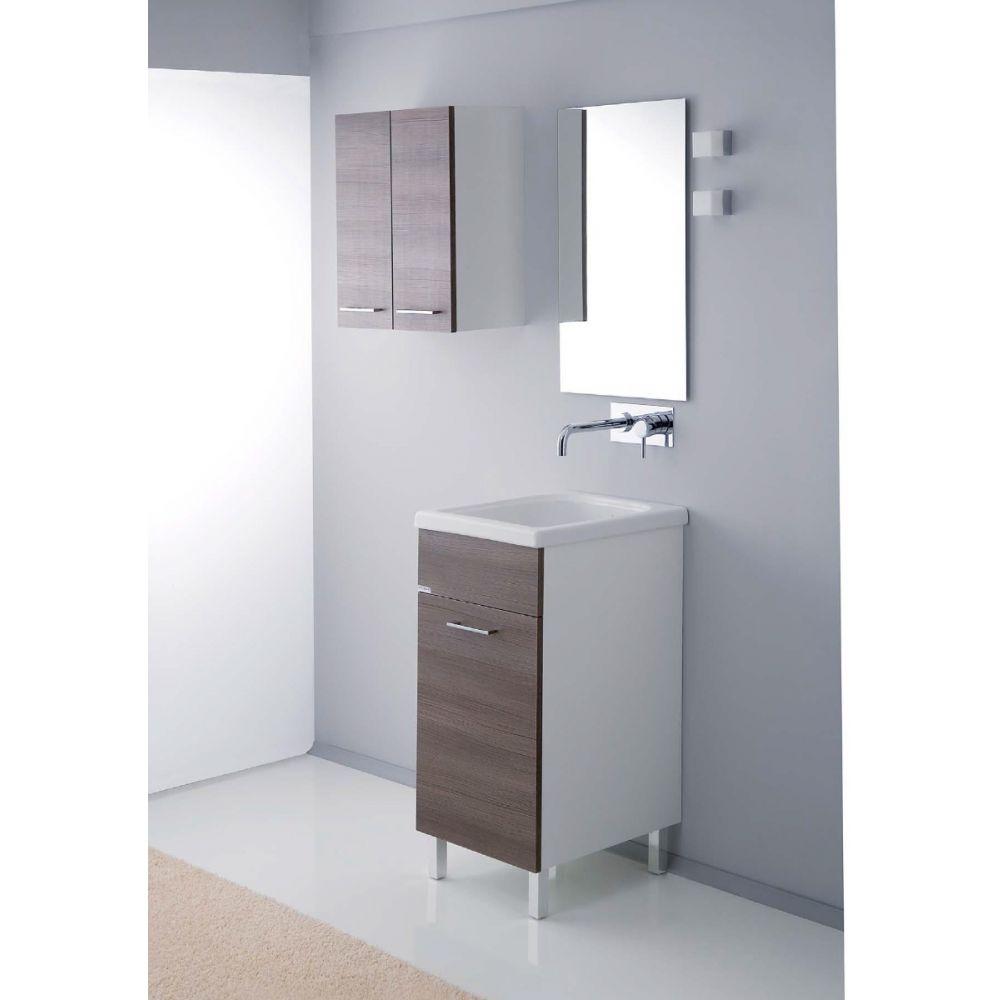 Mobile Lavello E Lavatrice corallo - lavatoio 45x50 con vasca in ceramica e strofinatoio incorporato