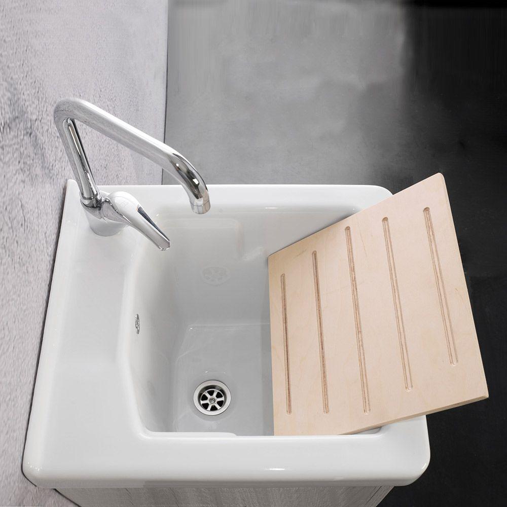 UNIKA - Mobile con lavatoio 45X50 con vasca in ceramica - Mobili con ...