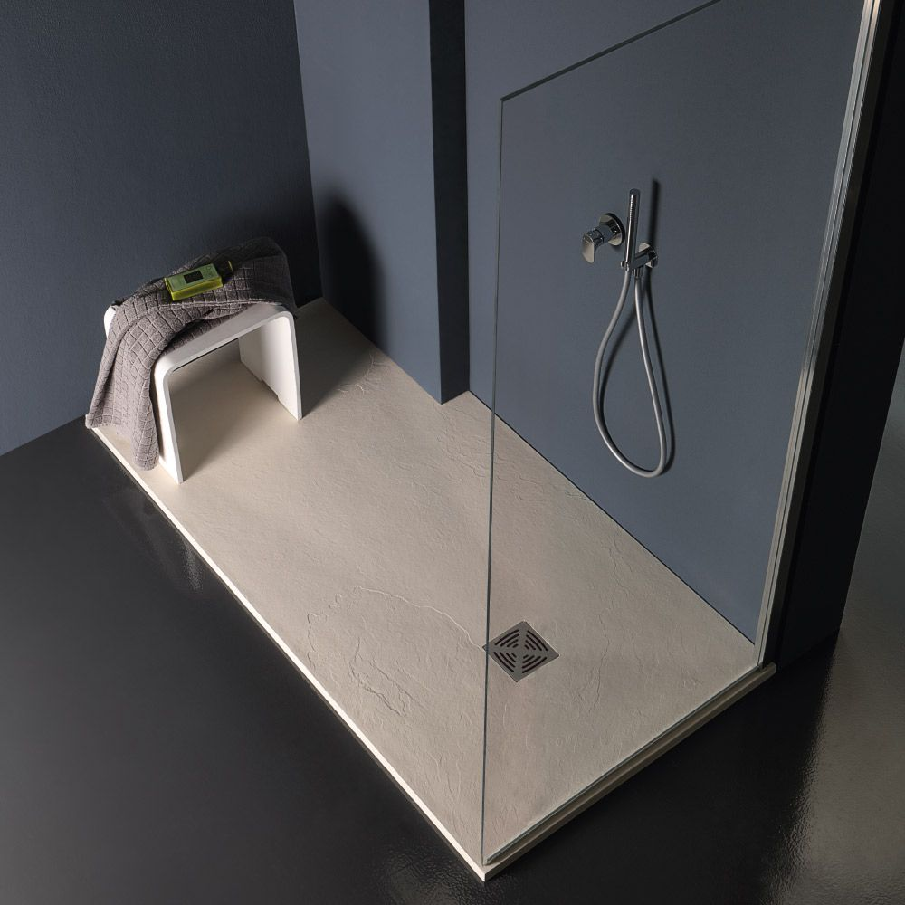 FLAT - Piatto doccia spessore 2,5 in marmo resina cm 90x90