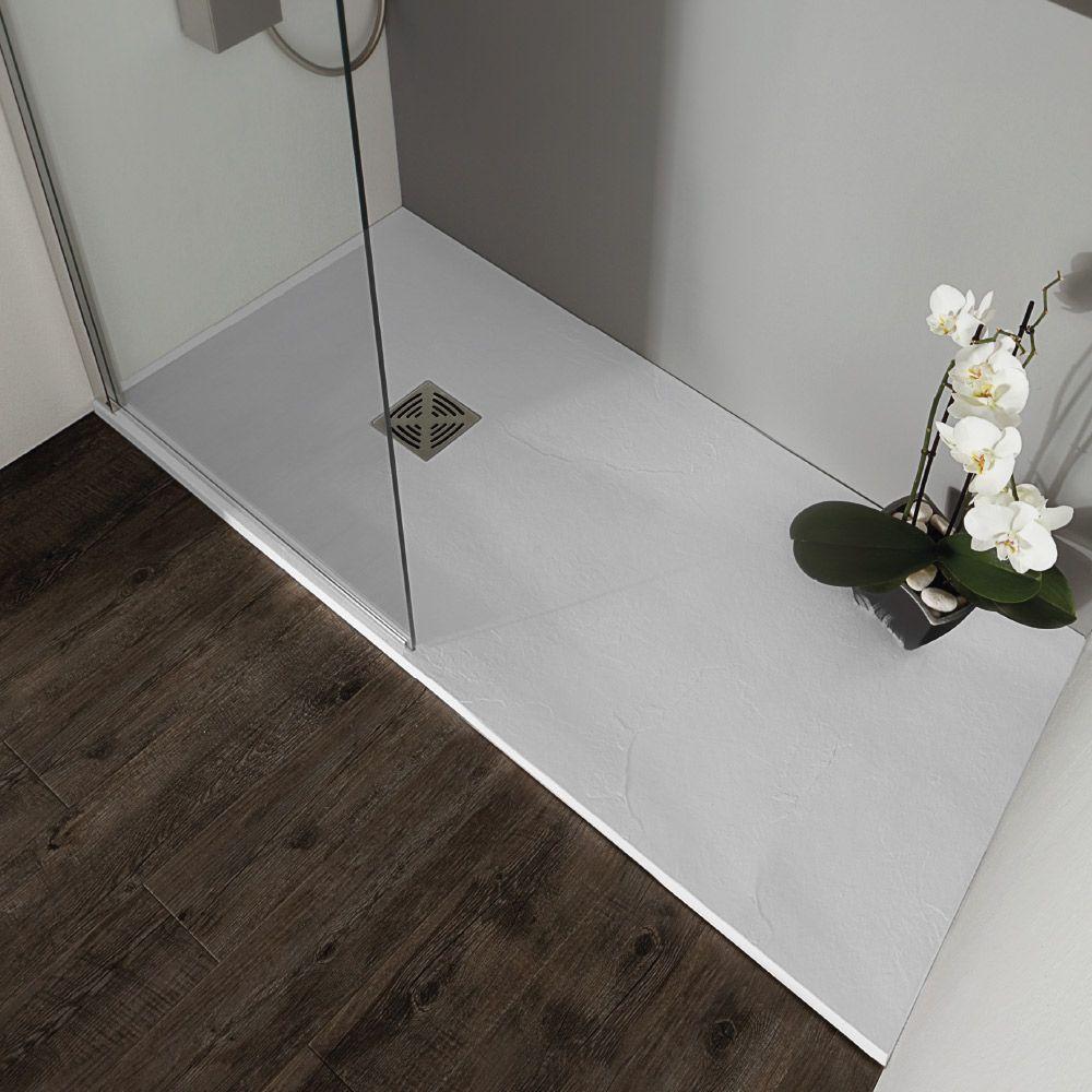 Flat piatto doccia spessore 2 5 in marmo resina cm 70x100 - Piatto doccia in resina o ceramica ...