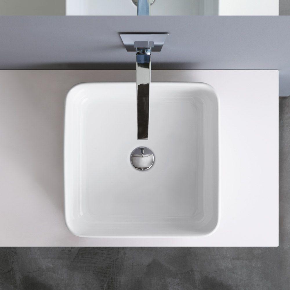 Kuadro lavabo d 39 appoggio cm 40 altezza cm 15 for Altezza lavabo appoggio