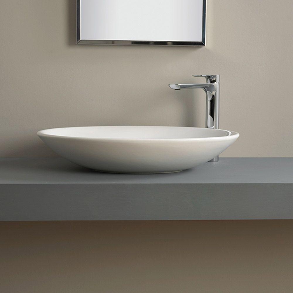 Pons lavabo d 39 appoggio cm 62 altezza cm 12 for Altezza lavabo appoggio