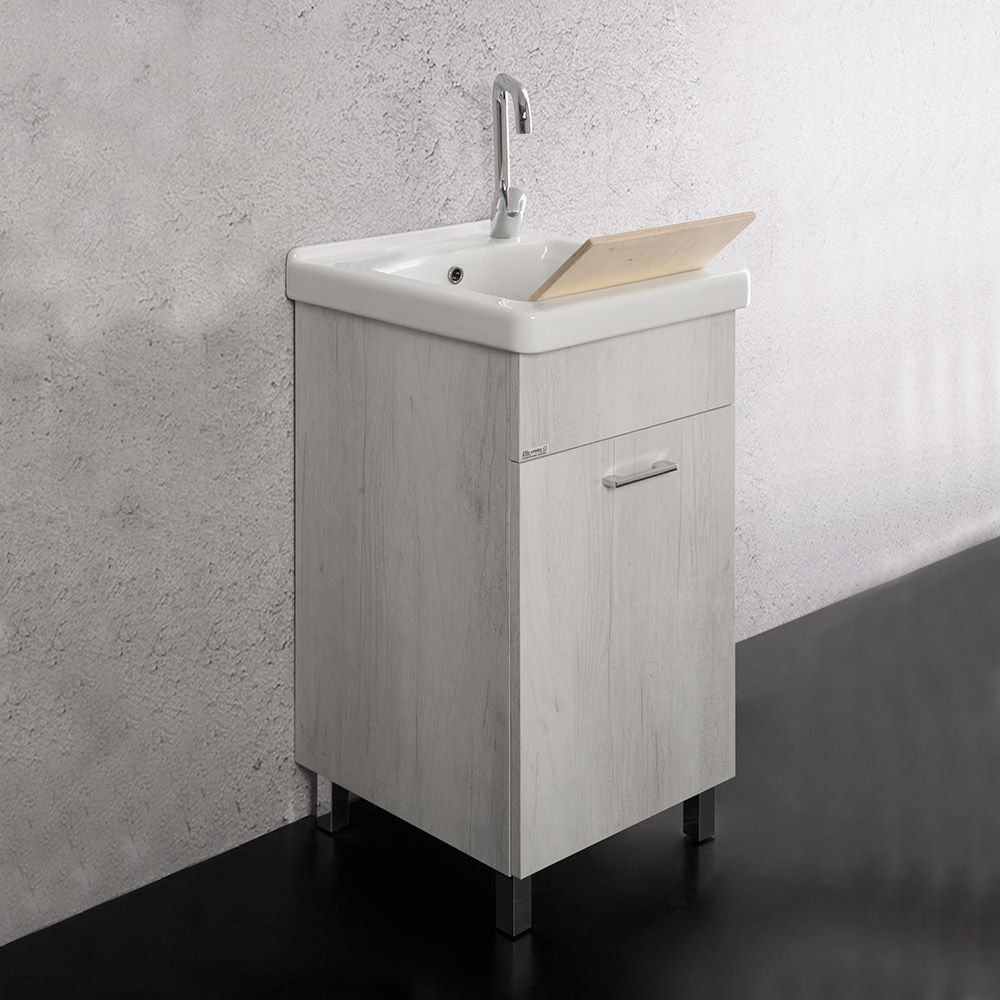 UNIKA - Mobile con lavatoio 45X50 con vasca in ceramica