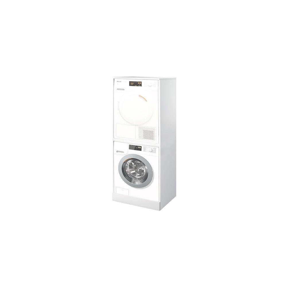 Colonna Per Lavatrice E Asciugatrice coprilav.kit bianco - colonna per inserimento lavatrice e asciugatrice  senza ante