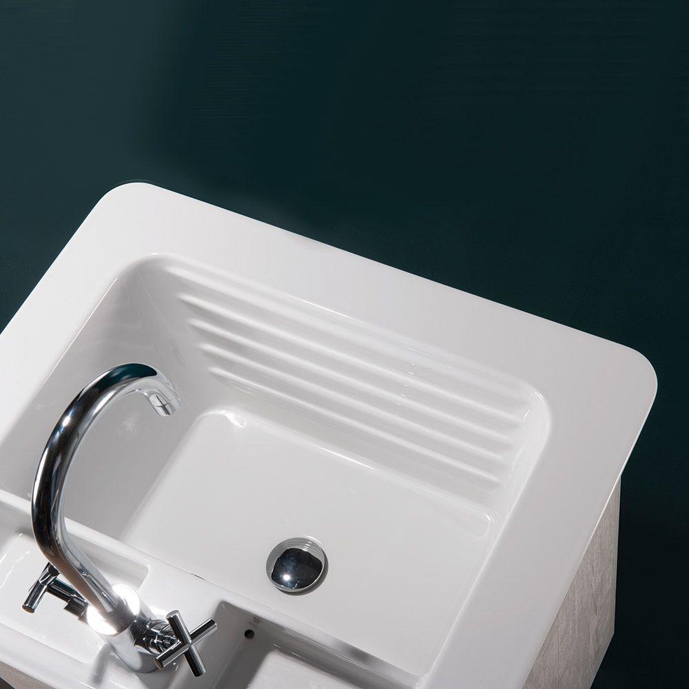 Lavatoio Per Lavanderia Ceramica.Deep System Mobile A Terra Con Lavabo In Ceramica Cm 50 60 70x50