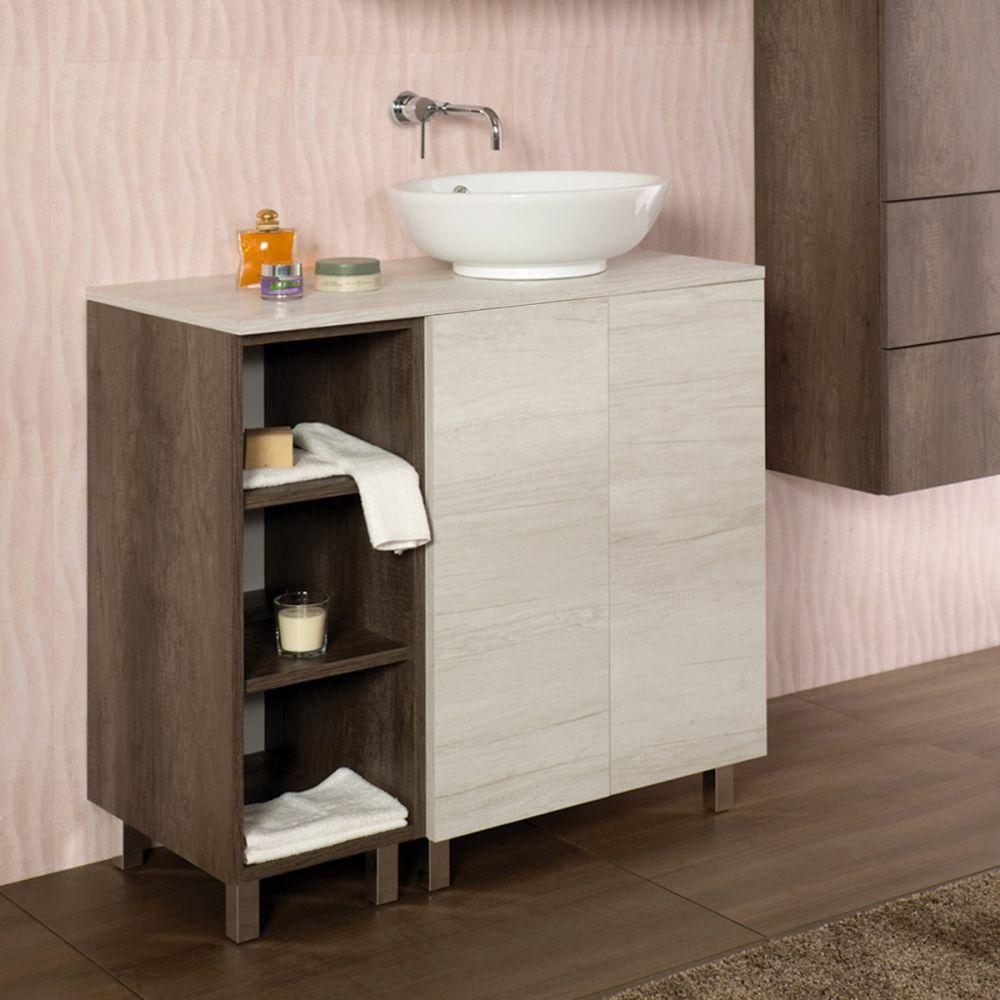 UNIKA - Composizione a terra per lavabo d\'appoggio Cm 90